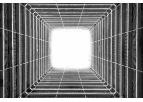 从高层建筑的天花板射入的光线的灰度级小角_13006543