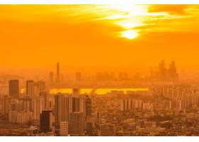 首尔美丽的山水和城市景观_3799895