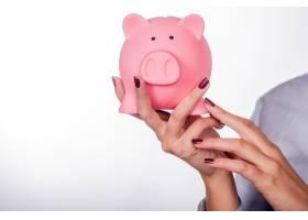 存钱罐钱的概念储蓄与金融概念特写_1162644