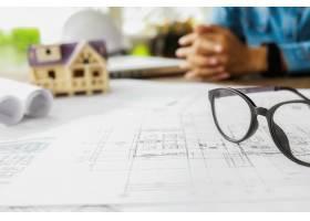 工程对象在工作场所俯视图上的图像建筑概_1238627