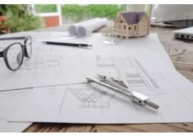 工程对象在工作场所俯视图上的图像建筑概_1238638