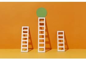 带圆的梯子排列_12975155