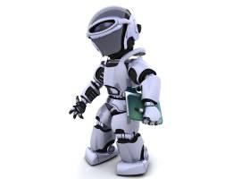 带文档和文件夹的机器人_958139