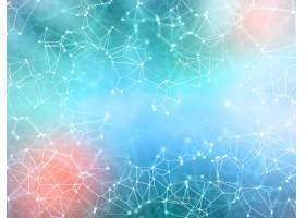 带连接线和连接点的3D网络背景_3912247