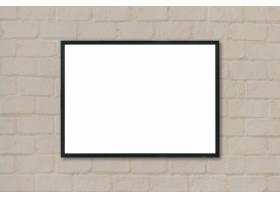 挂在墙上的黑色框架_997575