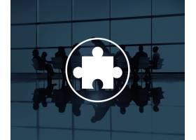 拼图游戏伙伴关系团队合作概念_2830624