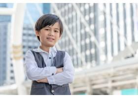 商业区亚洲男孩肖像生活方式儿童儿童人群_11872251