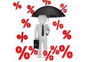 一场百分比雨中的生意人_955188