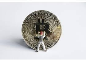 从事比特币工作的宏观矿工数字虚拟加密货_13200291
