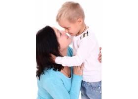 快乐的母亲和儿子在一起_8163506