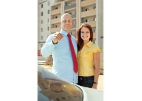 幸福的夫妇反对房地产_1239354