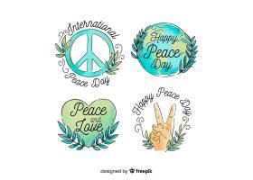 水彩画和平日徽章收藏_5189552