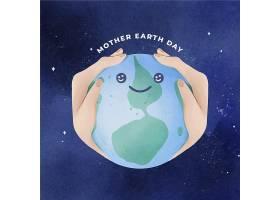 水彩画地球母亲日插图_12643339