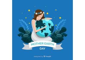 平坦的地球母亲日背景_3874228