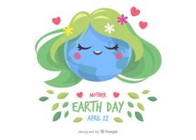平坦的地球母亲日背景_3874242