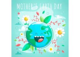 扁平设计中的地球母亲日_6990262