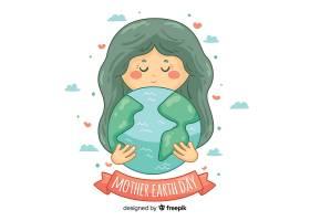 手绘地球母亲日背景_3874541