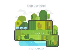 绿色生态系统概念背景_2819131
