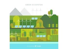 绿色生态系统概念背景_2819137