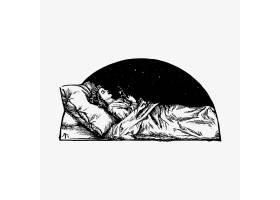 睡美人复古绘画_4258293