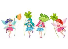 一套以花朵卡通人物为背景的童话故事_8700357