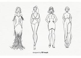 时装模特素描集_4940175