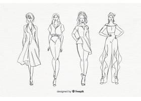 时装模特素描集_4940178