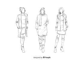 时装模特素描集_4940203