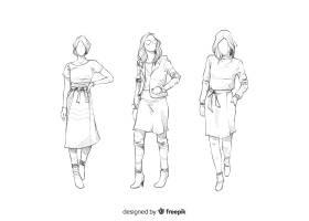 时装模特素描集_4940209