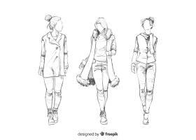 时装模特素描集_4940212