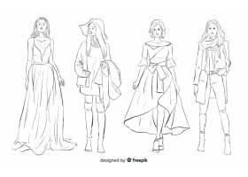 时装素描集与模特_4943029