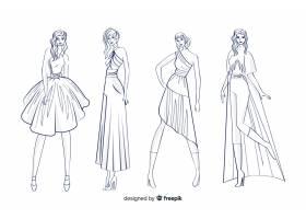 时装素描集与模特_4943030