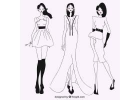 时尚模特的素描_956390