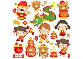 孩子们庆祝中国牛年生肖_11793056