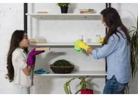 母女俩一起打扫卫生_6405117