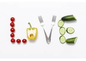 喜欢用蔬菜和叉子书写艺术_6363602