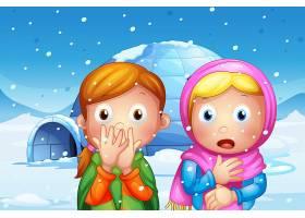 那两个带着雪花的女孩吓了一跳_4804991
