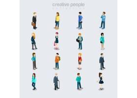 扁平的人因工作性别年龄和发型不同而各_13446075