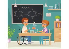实验室里的两个小学生的平色融合融合教育卡_6846557