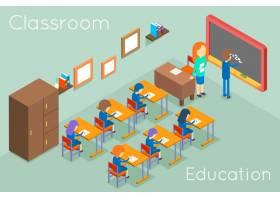 学校课堂教育等距概念教室内部供上课插_13400119