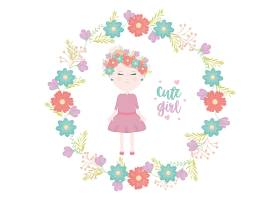 花冠可爱的小女孩_5010648