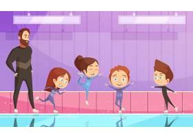 花样滑冰训练中的孩子们_5970746