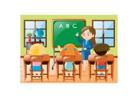 班级背景的孩子们_1021833
