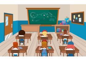 教育教室里有拿着书的女孩和男孩学生_4772657