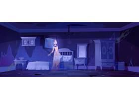 晚上老卧室里的女人鬼_13009368