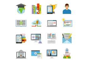 在线教育平面图标集_4431358