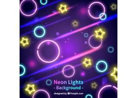 霓虹灯形状的抽象背景_1063455