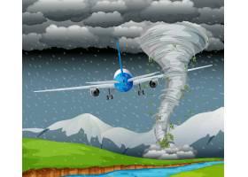 飞机在恶劣天气下飞行_4317344