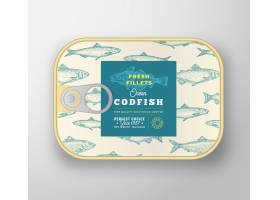 鱼罐头标签模板_9952204