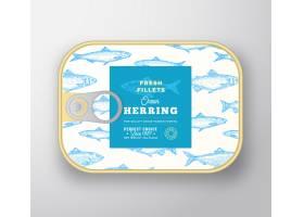 鱼罐头标签模板_9952207